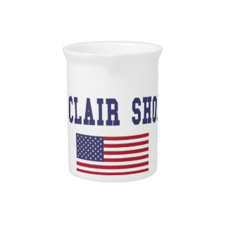 St. Clair Shores US Flag Drink Pitcher