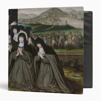 St. Claire with her Sister, Agnes and Nuns 3 Ring Binder