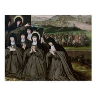 St. Claire with her Sister, Agnes and Nuns Postcard