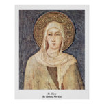 St. Clare By Simone Martini Posters