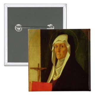 St. Clare, c.1485-90 (tempera on panel) Button