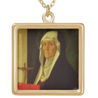 St. Clare, c.1485-90 (tempera on panel) Gold Plated Necklace