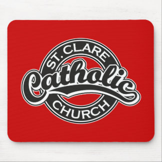 St. Clare Catholic Church Black and White Mouse Pad