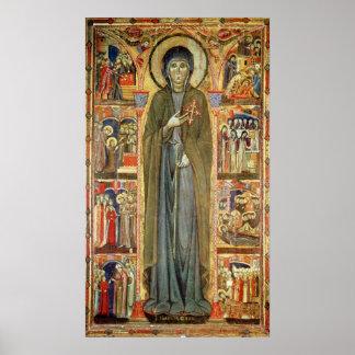 St. Clare con escenas a partir de su vida Posters
