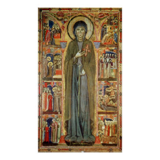 St. Clare con escenas a partir de su vida Póster