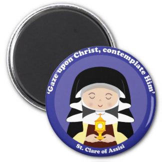 St. Clare de Assisi Imán Redondo 5 Cm