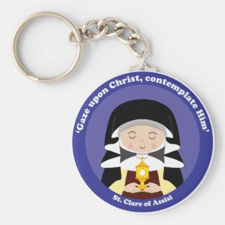 St. Clare de Assisi Llavero Redondo Tipo Pin