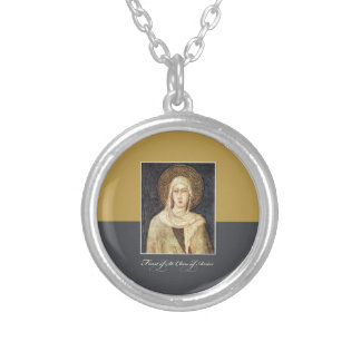St. Clare de las bendiciones del día de banquete Collar Plateado