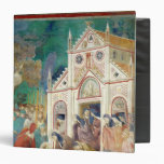 St. Clare Embraces the Body of St. Francis 3 Ring Binder