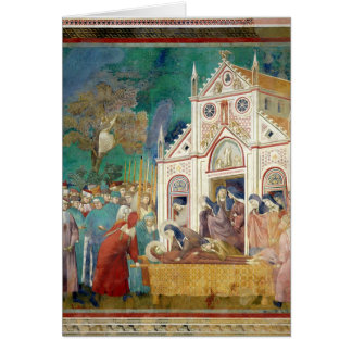 St. Clare Embraces the Body of St. Francis Card