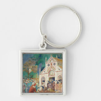 St. Clare Embraces the Body of St. Francis Keychain