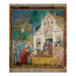 St. Clare Embraces the Body of St. Francis Poster