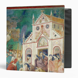 St. Clare Embraces the Body of St. Francis Vinyl Binder