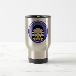 St. Clare of Assisi 15 Oz Stainless Steel Travel Mug