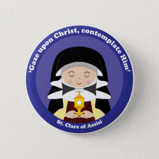 St. Clare of Assisi Button
