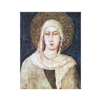 ST CLARE OF ASSISI, CANVAS PRINT
