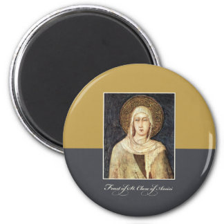St. Clare of Assisi Feast Day Blessings Magnet