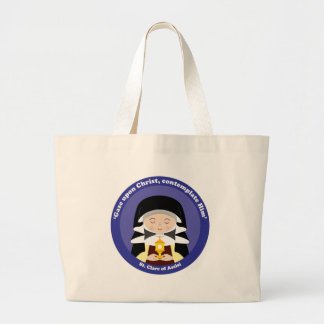 St. Clare of Assisi Large Tote Bag