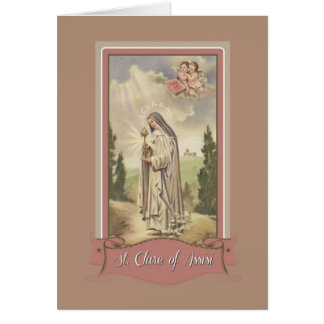St. Clare of Assisi Note Card