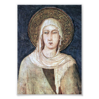 ST CLARE OF ASSISI, PHOTO PRINT