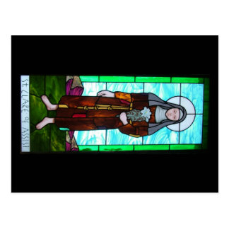 St Clare of Assisi postcard