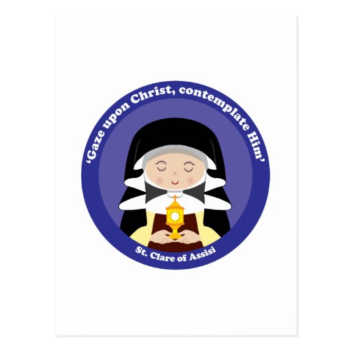 St. Clare of Assisi Postcards