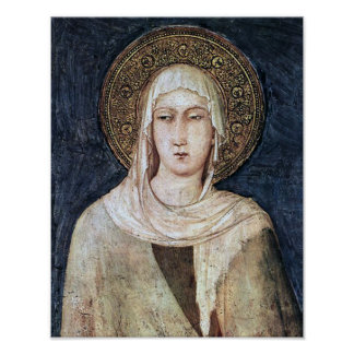 ST CLARE OF ASSISI, POSTER