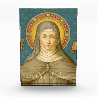 St. Clare of Assisi (SAU 027) Paperweight or Award