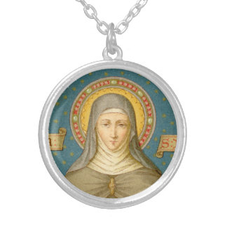 St. Clare of Assisi (SAU 027) Silver Plated Necklace