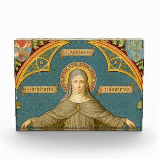 St. Clare of Assisi & Scrolls (SAU 27) HorizPprwt/ Acrylic Award
