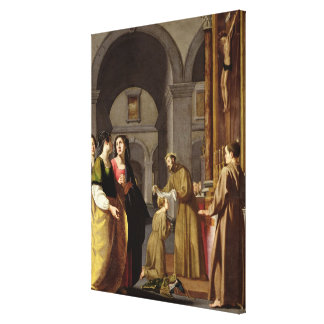 St. Clare Receiving the Veil from St. Francis Canvas Print