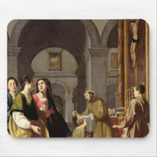 St. Clare Receiving the Veil from St. Francis Mouse Pad