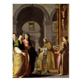 St. Clare Receiving the Veil from St. Francis Postcard