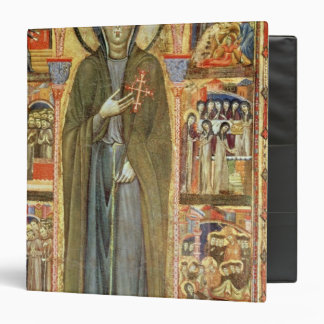 St. Clare with Scenes from her Life 3 Ring Binder