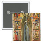 St. Clare with Scenes from her Life 2 Inch Square Button