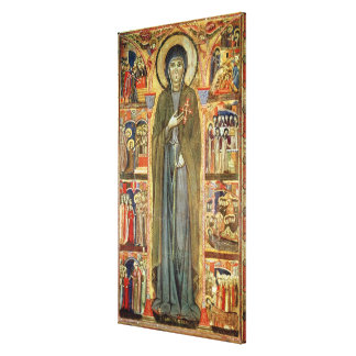 St. Clare with Scenes from her Life Canvas Print