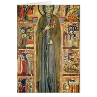 St. Clare with Scenes from her Life Greeting Card