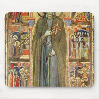 St. Clare with Scenes from her Life Mouse Pad