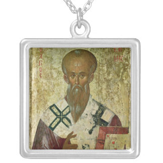 St. Clement, 14th-15th century Silver Plated Necklace