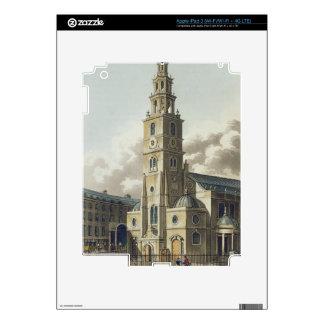 St. Clement Danes Church, pub. by Rudolph Ackerman iPad 3 Skin