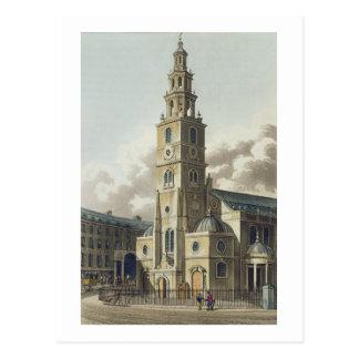 St. Clement Danes Church, pub. by Rudolph Ackerman Postcard