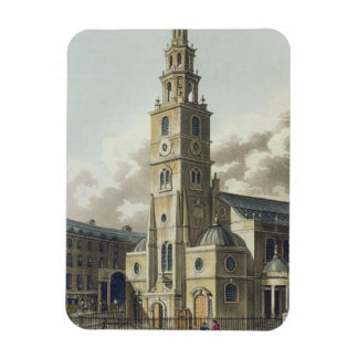 St. Clement Danes Church, pub. by Rudolph Ackerman Rectangular Photo Magnet