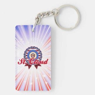 St. Cloud, MN Double-Sided Rectangular Acrylic Keychain