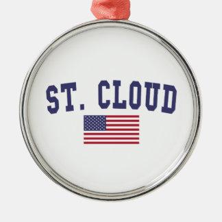 St. Cloud US Flag Metal Ornament