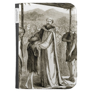St. Columba blesses a wild boy, from 'The Trias Th Kindle 3 Covers