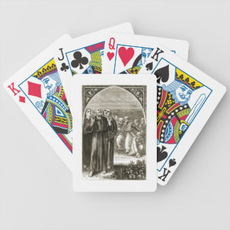 St. Columba chanting, and attacked by the Druids, Bicycle Playing Cards