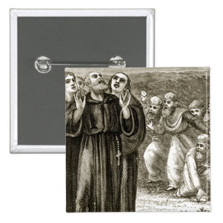 St. Columba chanting, and attacked by the Druids, Button