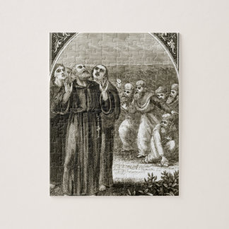 St. Columba chanting, and attacked by the Druids, Jigsaw Puzzle