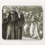 St. Columba chanting, and attacked by the Druids, Mouse Pad