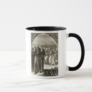 St. Columba chanting, and attacked by the Druids, Mug